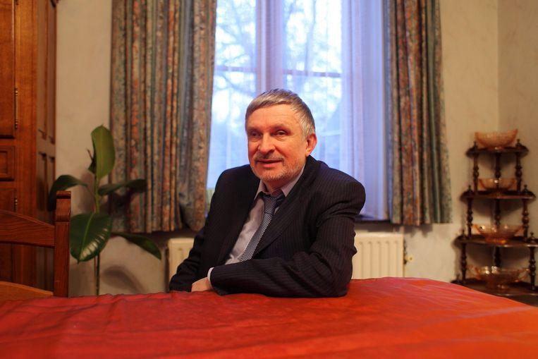 De blinde Jef B., gewezen gevangenisdirecteur van Wortel (Hoogstraten). Foto uit 2013.