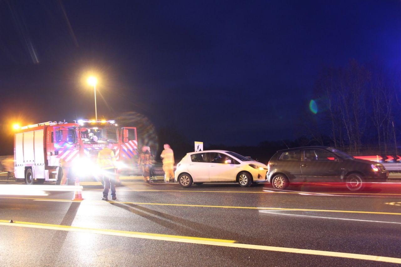 In de ochtend onstonden diverse files op de A1 na ongevallen.