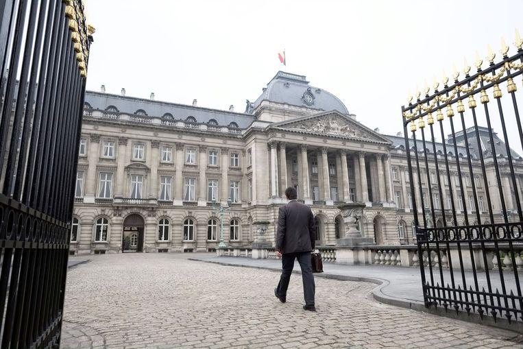 Ook Groen-voorzitter Wouter Van Besien trok te voet naar de koning.