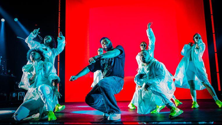 Op 1 oktober gaf de amerikaanse zanger Khalid (echte naam: Khalid Donnel Robinson) een concert in de Ziggo Dome. Beeld Ben Houdijk