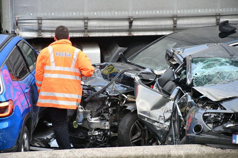 De ravage na het ongeval was enorm.