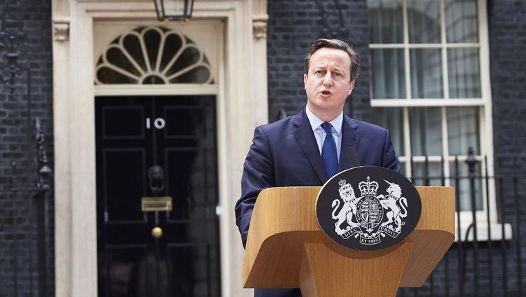 Premier David Cameron noemde IS 'wanhopig' naar aanleiding van hun video. Beeld anp