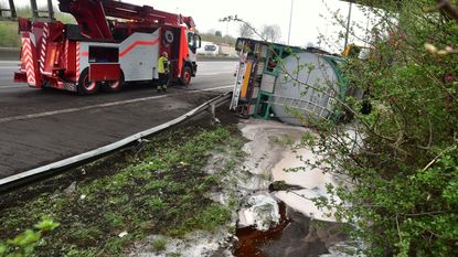 Tankwagen verliest duizenden liters Rodenbach op E17