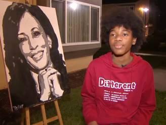 """Tiener krijgt meer dan miljoen views voor portret van Kamala Harris: """"Ze belde mij op!"""""""