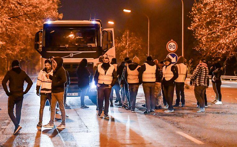 De man riep tijdens een actie aan de Total-fabriek op tot geweld.
