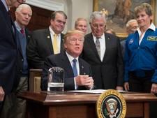 Trump stuurt weer Amerikaanse astronauten naar de maan