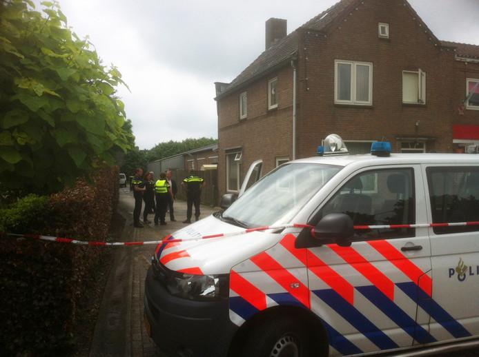 De politie is nog op zoek naar sporen van het ongeluk.