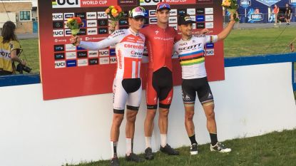 KOERS KORT 26/05: Van der Poel pakt leiding in wereldbeker mountainbike - Mitchelton-Scott wint ook sprintdag Hammer Series