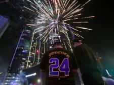 Fotoserie | Lakers-fans vieren feest en dragen NBA-titel op aan Kobe Bryant