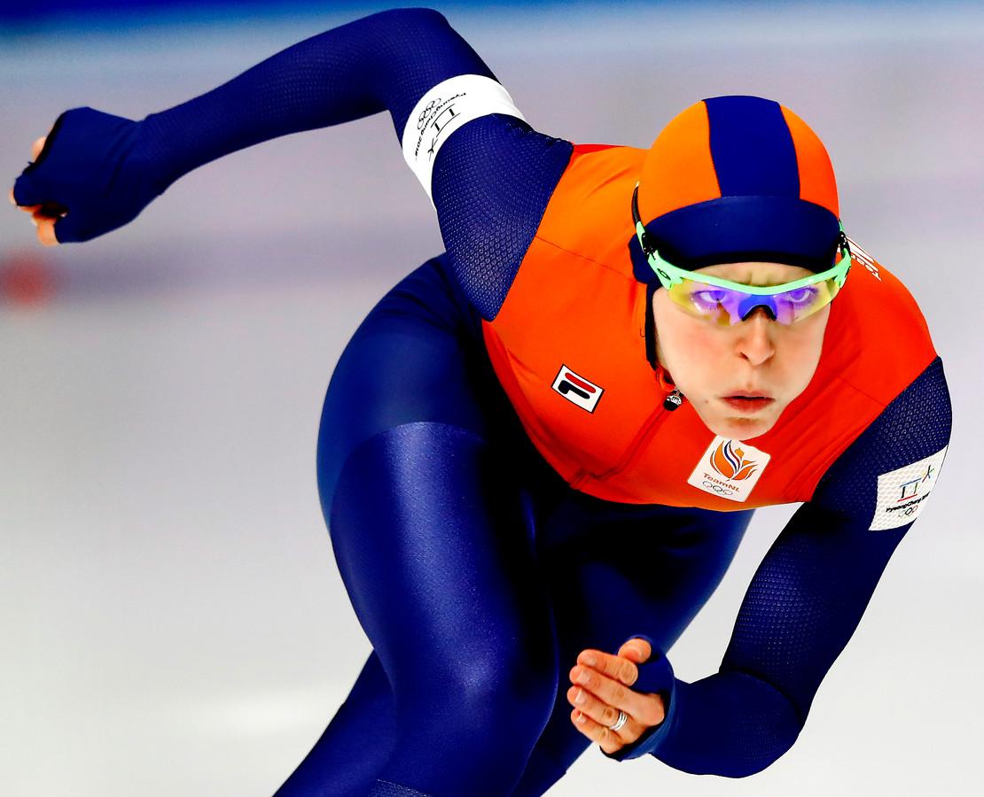 Jorien ter Mors op de Spelen in Pyeongchang.