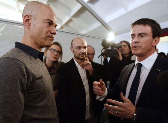 Laurent Léger avec Manuel Valls