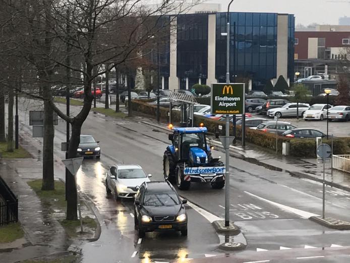 Eerste boeren komen aan in Eindhoven