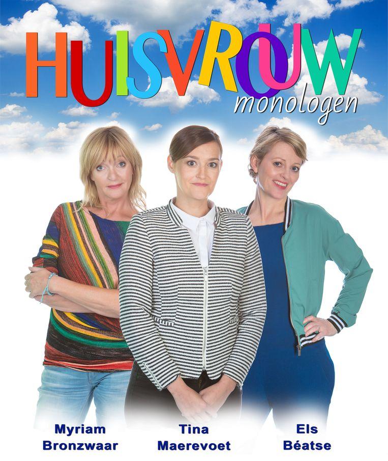 De affiche van de voorstelling met Myriam Bronzwaar, Tina Maerevoet en Els Béatse