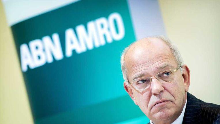 Topman Zalm van ABN Armo bij de presentatie van de jaarcijfers. Beeld anp