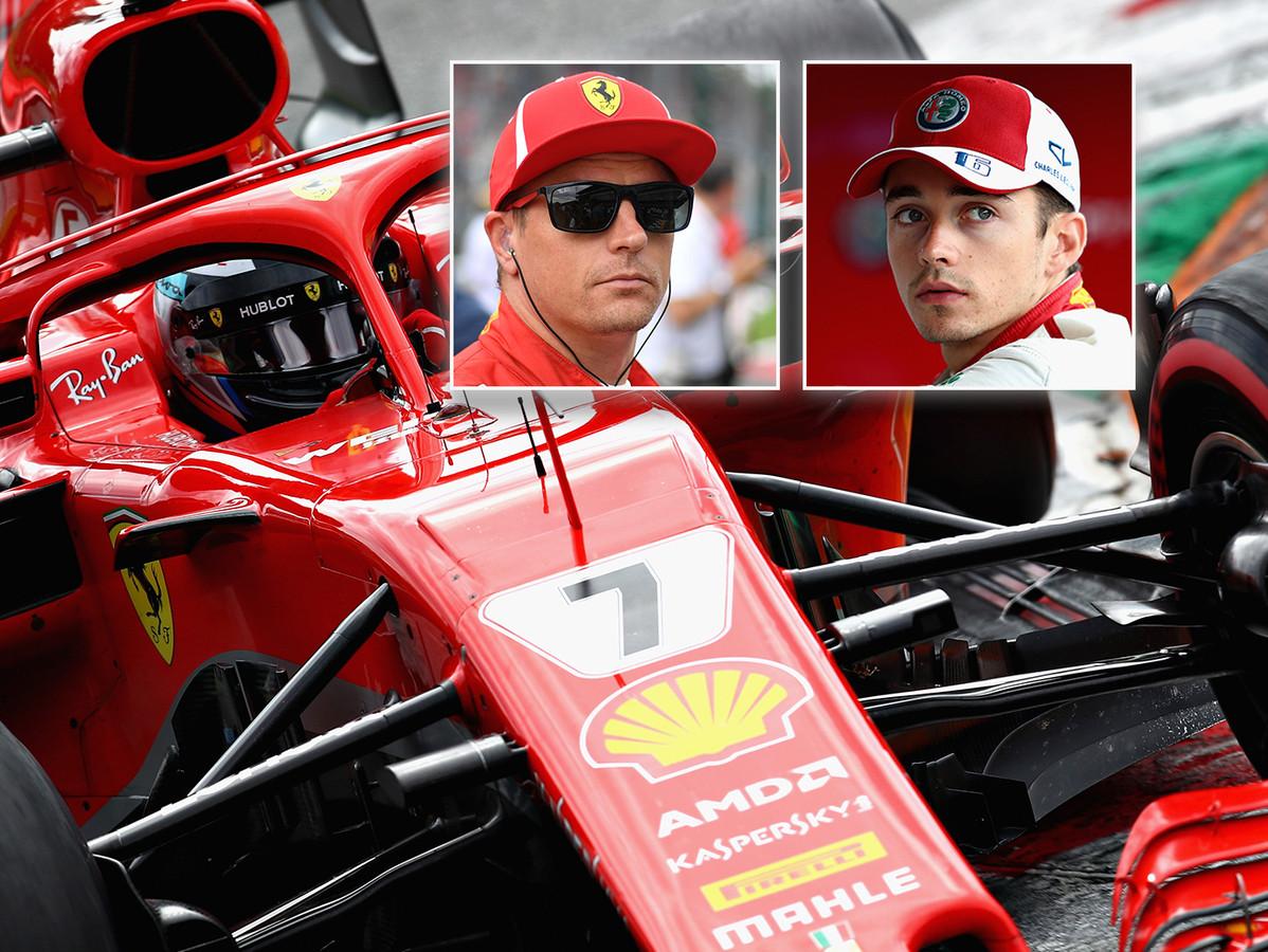 INzet: Kimi Räikkönen (links) en Charles Leclerc.