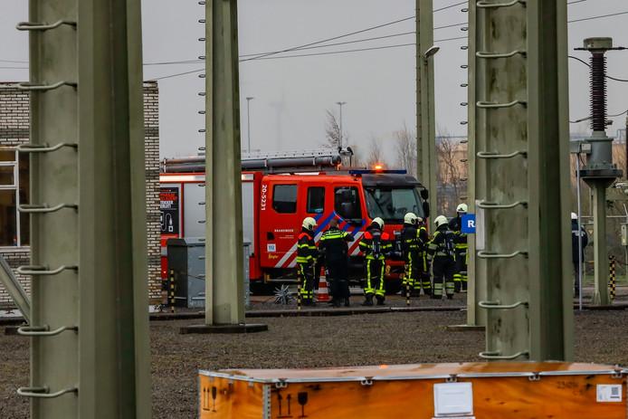 Brand in verdeelstation in Geertruidenberg
