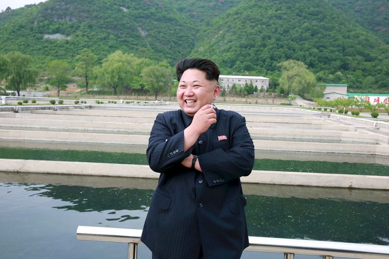 Kim Jong Un, de leider van Noord-Korea. Beeld REUTERS