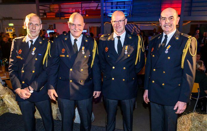 (vlnr) Kees van Venrooij, Willy Thijssen, Peter Dollevoet, Bart van Erp.