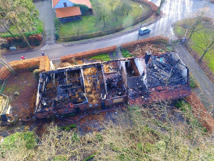 Afgebrande boerderij in Bladel