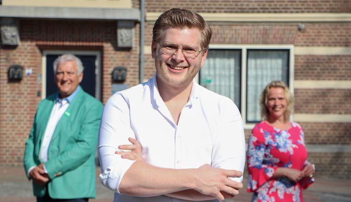 De top 3 van D66 Oisterwijk (vlnr) Hans Pennings, Jan van Ginneken en Sharon Kroon