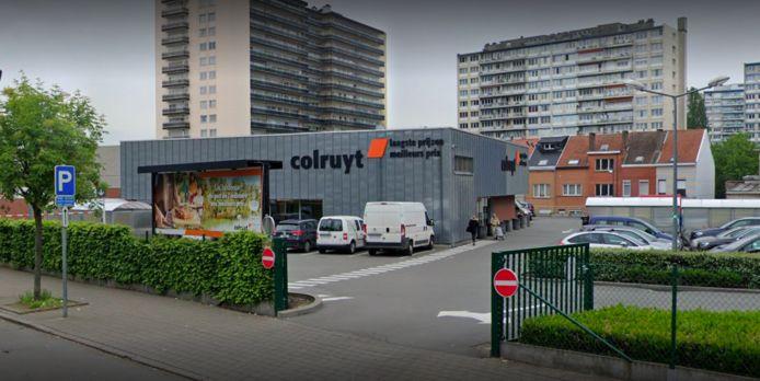 Le Colruyt de la chaussée de Mons à Anderlecht.