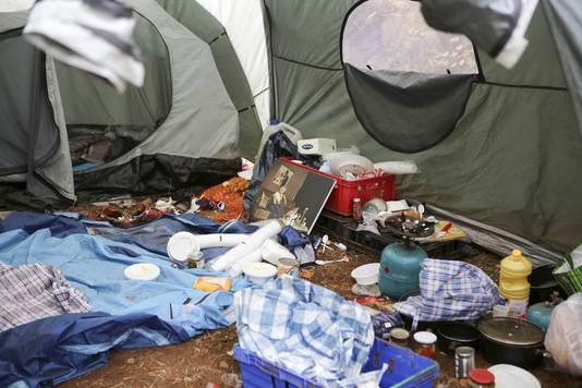Zo leefden de vluchtelingen in het bos bij Bladel.