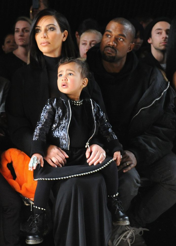 Kim, Kanye en hun dochtertje, North.
