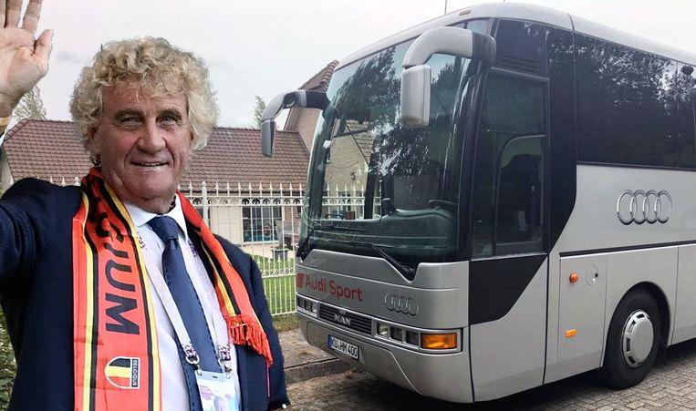 Jean-Marie Pfaff kocht de bus van de baas van Audi Duitsland.