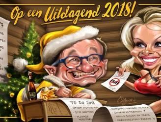 Minister Weyts viert kerst met Pamela Anderson, burgemeester De Wever met frieten