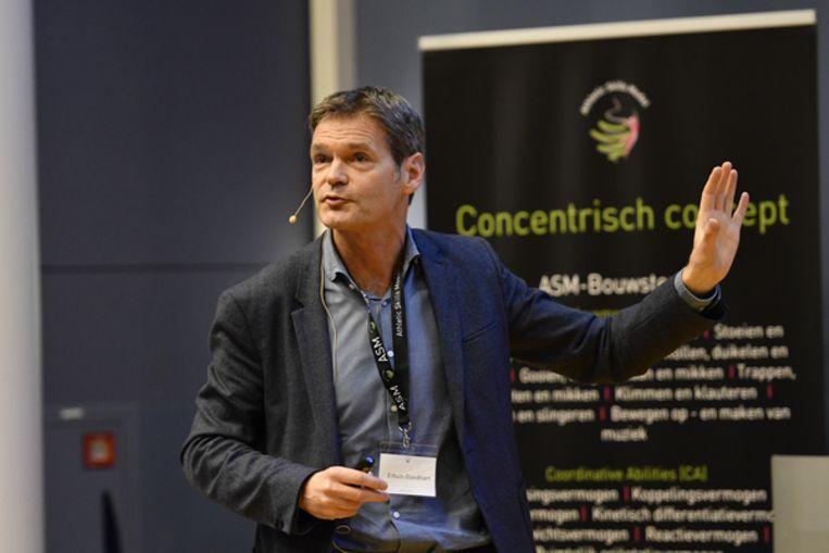 Edwin Goedhart, teamarts van de KNVB. Beeld Hollandse Hoogte