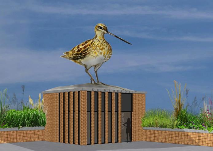 Op de nieuwe parkeergarage aan het Berlijnplein in de Utrechtse wijk Leidsche Rijn komt een metershoog  standbeeld van een snip.