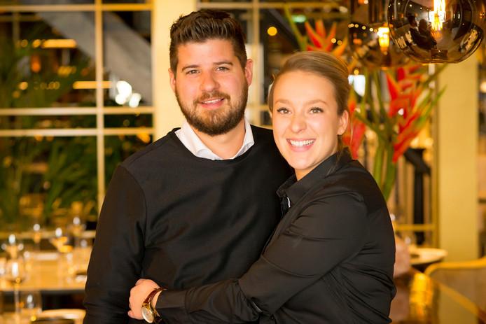 Amber Hoekstra en Maarten Hoppenbrouwers van restaurant Disch in de Kerkstraat
