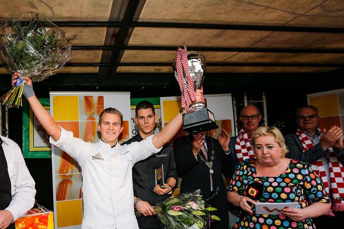 Winnaar Christiaan van de Vegt van het lekkerste Brabantse worstenbroodje 2018.