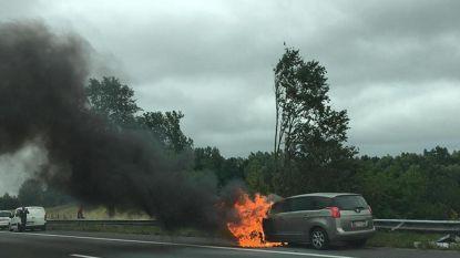 Auto volledig uitgebrand op E40