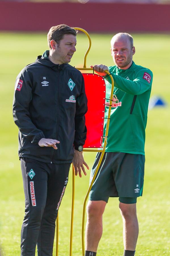 Davy Klaassen met trainer Florian Kohfeldt.
