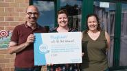 GBS Het Nest ontvangt cheque van 765 euro van Mooimakers
