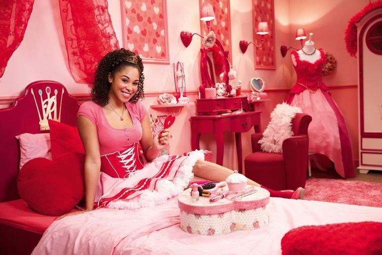 Désirée als prinses Roos uit 'Prinsessia'.