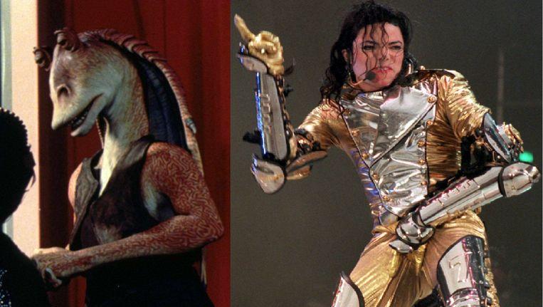 Van links naar rechts: Jar Jar Binks, Michael Jackson Beeld anp