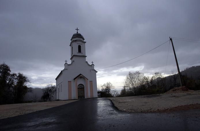 Een kerkje in het dorp Zarozje.