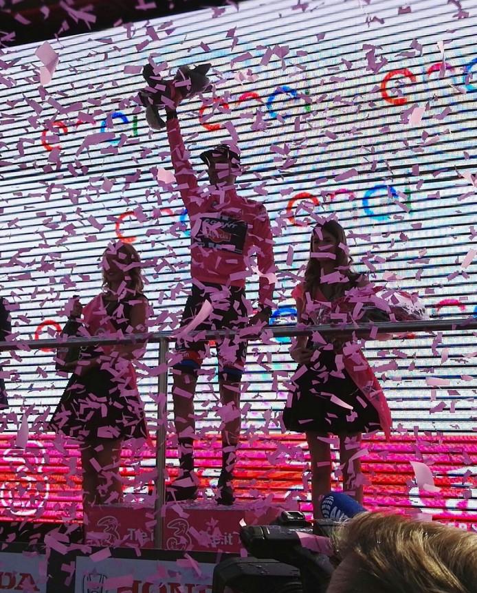 Dumoulin wint de Giro d'Italia