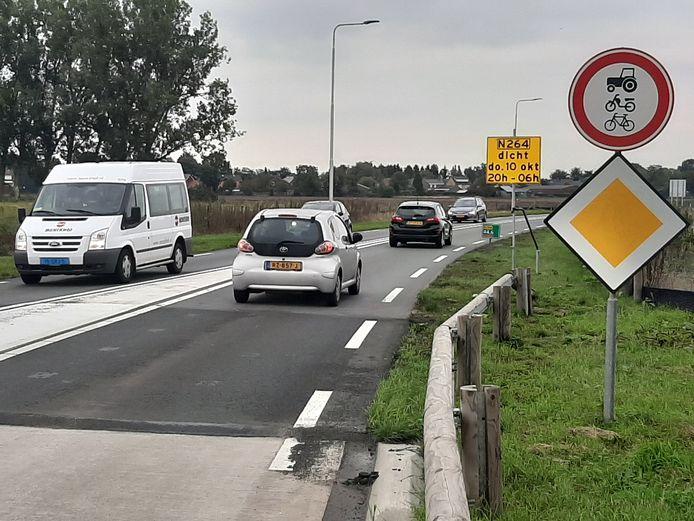 Het af te sluiten deel van de randweg bij Haps.