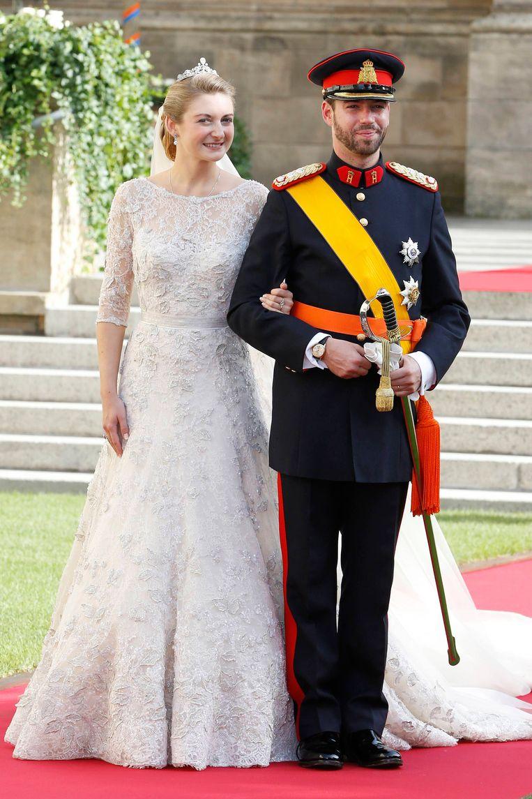 Groot Hertog Guillaume van Luxemburg en Stephanie de Lannoy