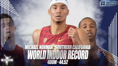 Straffe beelden: Amerikaanse student breekt wereldrecord op 400 m indoor