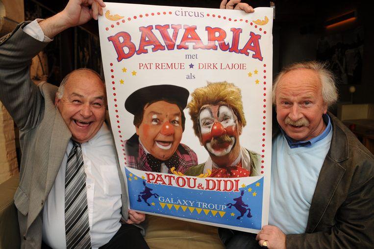 Pat Remue & Dirk Lajoie als Clowns van circus Bavaria.