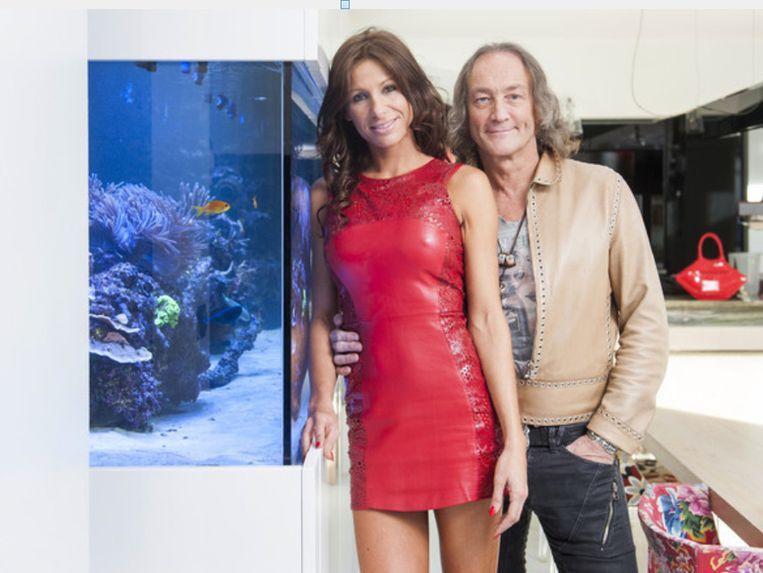 Kirsten Janssens met Jan Kriekels ten tijde van 'The Sky is the Limit'.