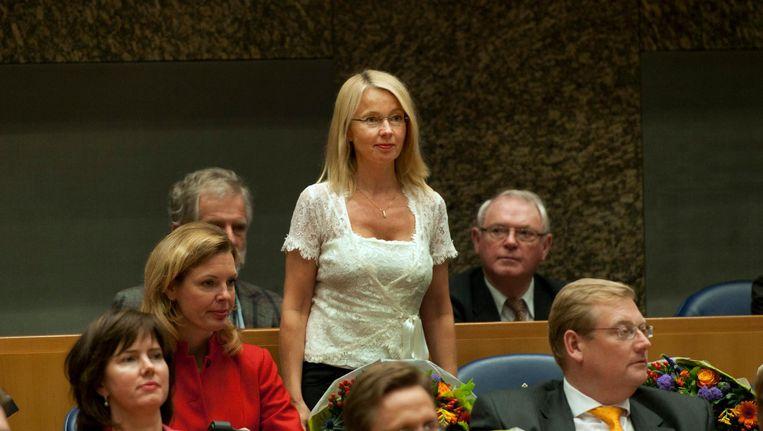 Ybeltje Berckmoes-Duindam wordt als VVD-Kamerlid beëdigd in de Tweede Kamer in 2012. Beeld anp