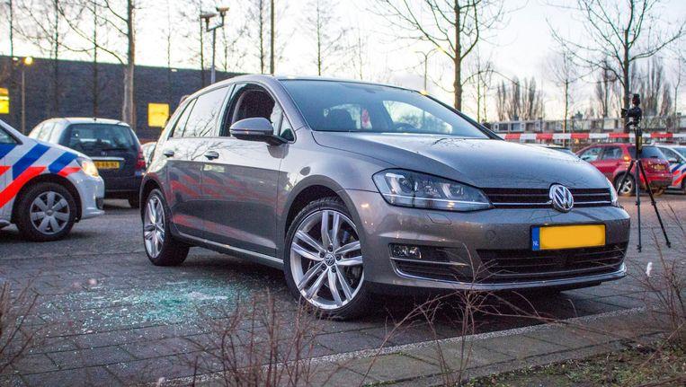 De man werd op het parkeerterrein van een sportschool in Amstelveen uit zijn auto gesleurd Beeld anp