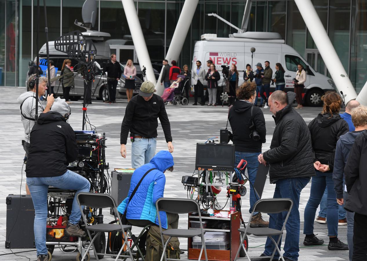 Het Stadsplein in Nieuwegein is veranderd in een filmlocatie.