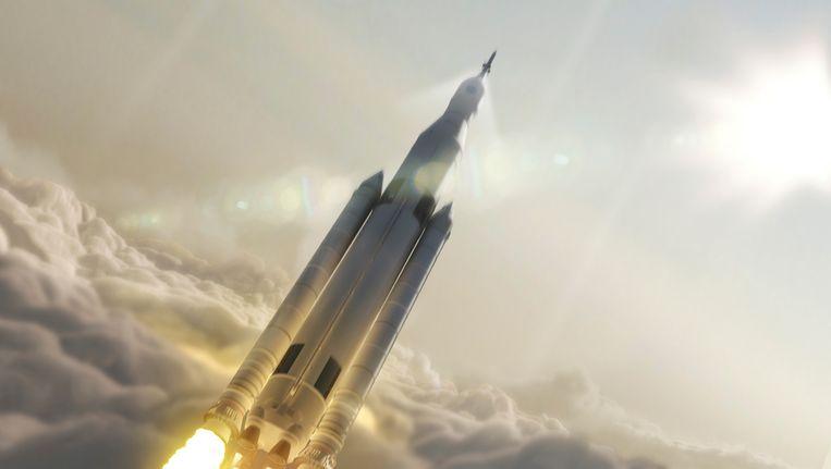 Archiefbeeld: Een draagraket van NASA