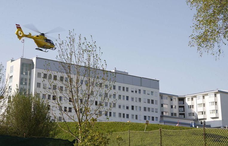Een traumahelikopter arriveert aan het ziekenhuis van het Oostenrijkse Amstetten (archieffoto).